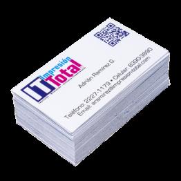Tarjeta de presentación impresa en impresión digital