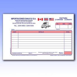 Formularios media carta numerados y plecados