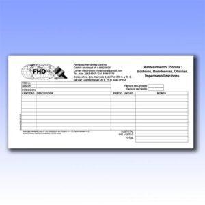 Blocks de formularios a un tercio de hoja legal