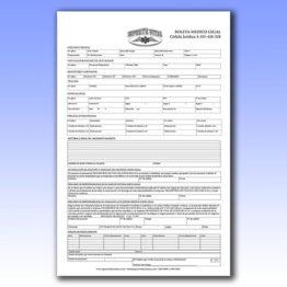 Formularios tamaño legal numerados y plecados