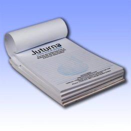 Libretas con hojas impresas