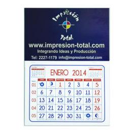 Calendario respaldo con santoral